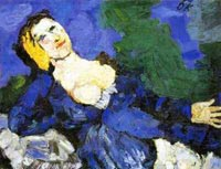 Kokoschka Woman in Blue